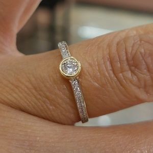 Jewelry - Dainty 14k Yellow Gold Engagement Ring